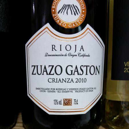 Zuazo Gaston Crianza Rioja Tempranillo Blend 2014