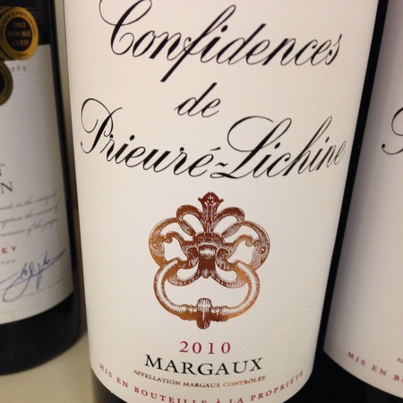 Château Prieuré-Lichine Confidences de Prieuré-Lichine Margaux Red Bordeaux Blend 2012