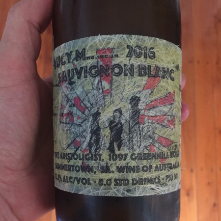 Lucy Margaux Vineyards Lucy M....... Sauvignon Blanc 2016