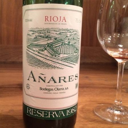 Bodegas Olarra Reserva Añares Rioja Tempranillo Blend 1982