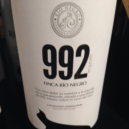 Finca Rio Negro 992 Tempranillo Blend 2015