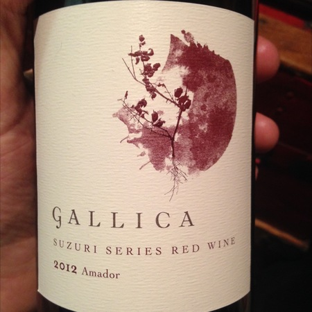 Gallica Shake Ridge Ranch Suzuri Series Red Rhone Blend 2012