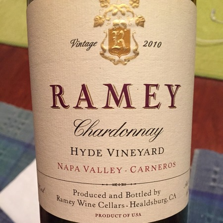 Ramey Wine Cellars Hyde Vineyard Chardonnay 2014