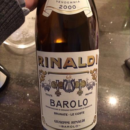 Giuseppe Rinaldi Brunate Le Coste Barolo Nebbiolo 2000