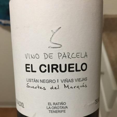 Suertes del Marques  El Ciruelo Viñas Viejas Valle de la Orotava Listan Negro 2015