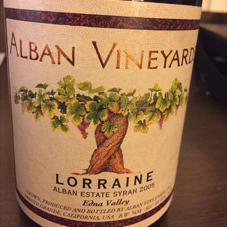 Alban Vineyards Lorraine Syrah 2005