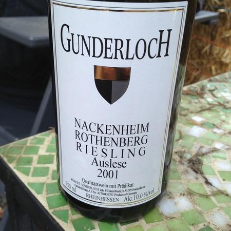 Gunderloch Nackenheim Rothenberg  Auslese Riesling 2001