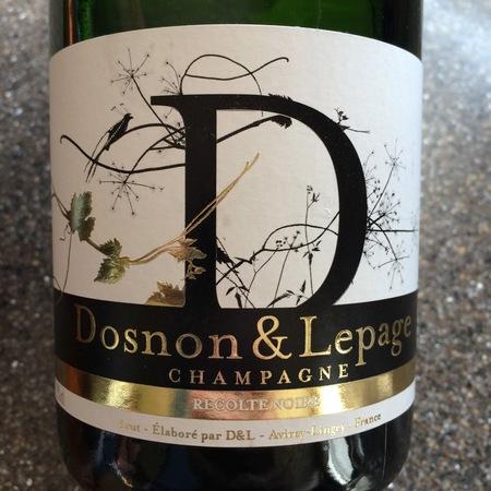 Dosnon & Lepage Recolte Noire Brut Champagne Pinot Noir NV
