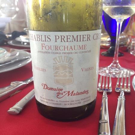 Domaine des Malandes  Fourchaume Vieilles Vignes Chablis 1er Cru Chardonnay 2015 (750ml 12bottle)