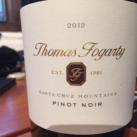 Thomas Fogarty Santa Cruz Mountains Pinot Noir 2012