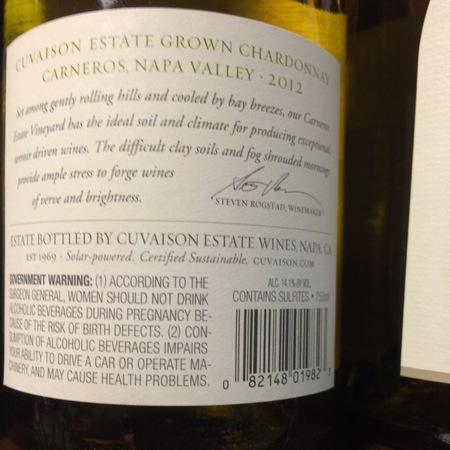 Cuvaison Carneros Chardonnay 2013