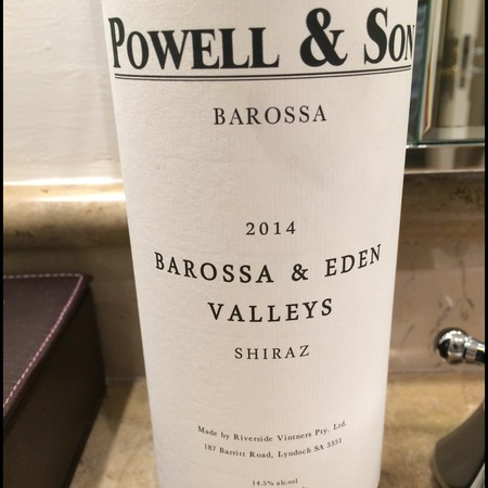 Riverside Vintners Powell & Son Barossa & Eden Valley Shiraz 2014