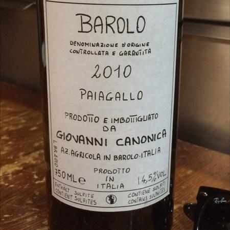 Giovanni Canonica Paiagallo Barolo Nebbiolo 2013