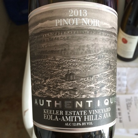 Keeler Estate Vineyard Authentique Eola-Amity-Hills Pinot Noir 2013