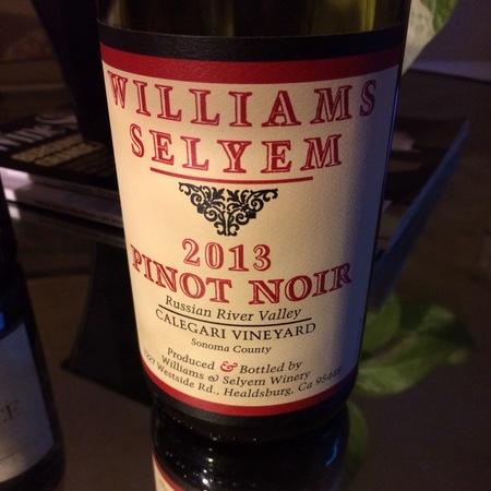 Williams Selyem Calegari Vineyard Pinot Noir 2013