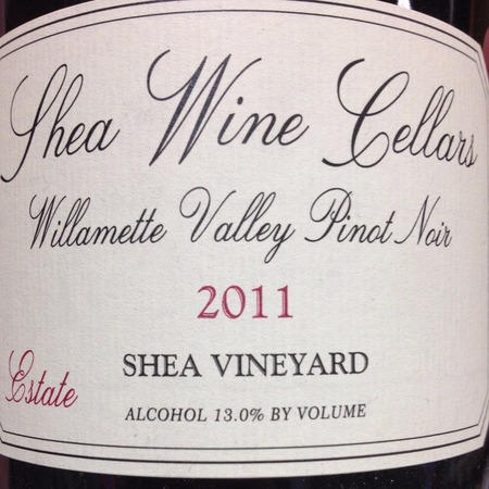 Shea Wine Cellars Estate Shea Vineyard Pinot Noir 2011