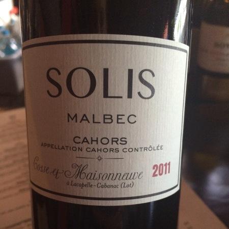 Domaine Cosse et Maisonneuve Solis Cahors Malbec 2013