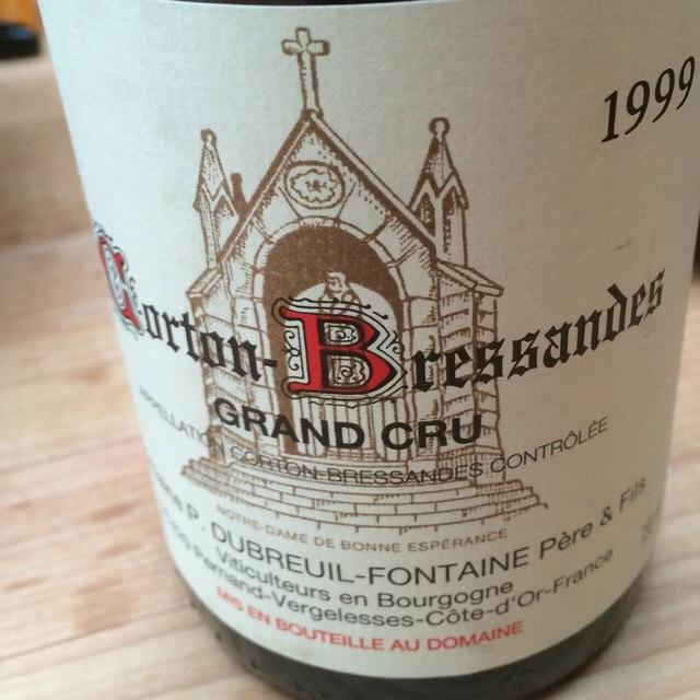 Corton-Bressandes Grand Cru Pinot Noir 1999