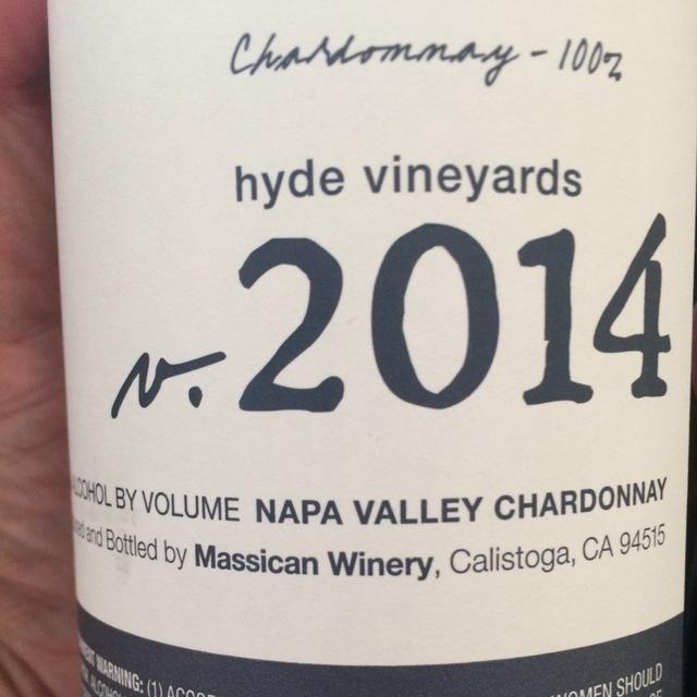 Hyde Vineyards Chardonnay 2015
