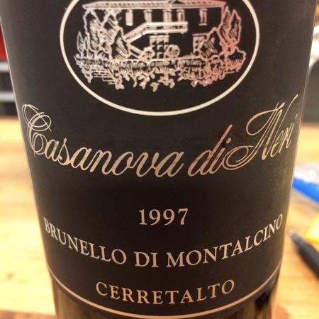 Casanova di Neri Cerretalto Brunello di Montalcino Sangiovese 1997