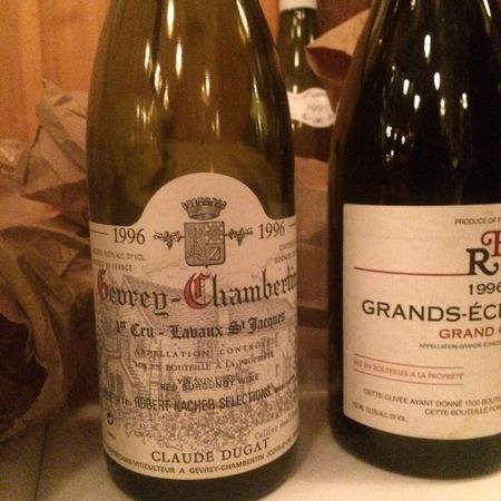 Claude Dugat Lavaux St. Jacques Gevrey-Chambertin 1er Cru Pinot Noir 1996