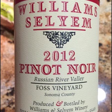 Williams Selyem Foss Vineyard Pinot Noir 2013