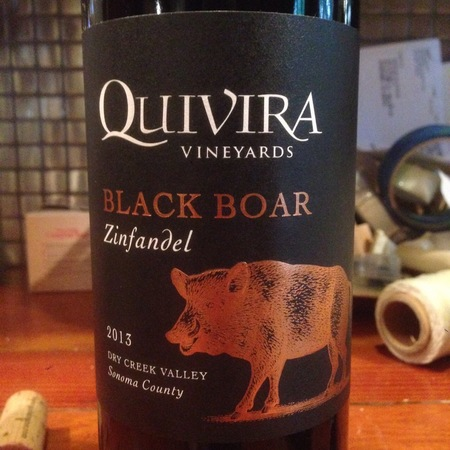 Quivira Vineyards Black Boar Dry Creek Valley Zinfandel 2014