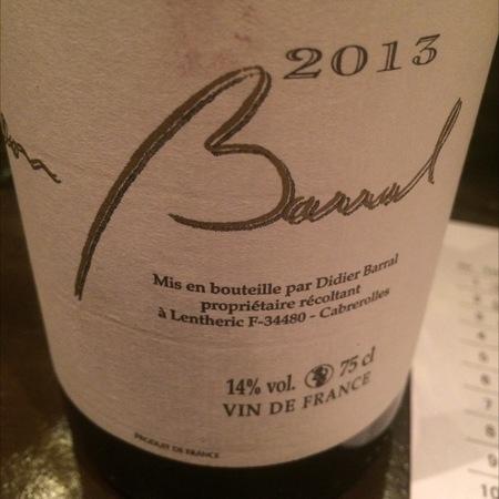 Domaine Léon Barral Vin de Pays de l'Hérault Terret Blanc Blend  2013