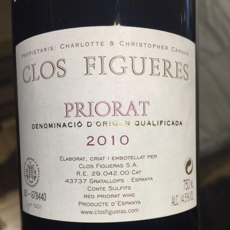 Clos Figueres Priorat Grenache Blend 2010