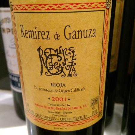 Fernando Remírez de Ganuza Rioja Tempranillo Blend 2001