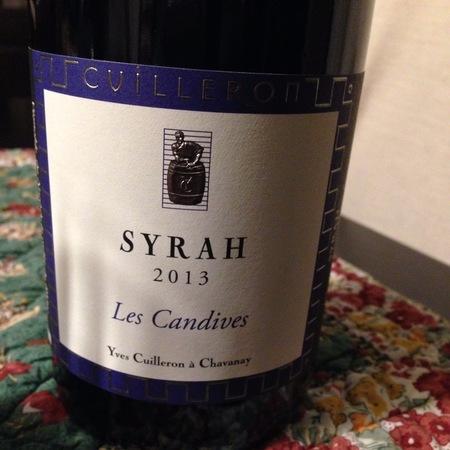 Yves Cuilleron Les Candives Vin de Pays des Collines Rhodaniennes Syrah 2013