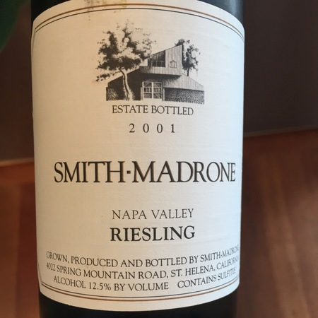 Smith Madrone Estate Bottled Napa Valley Riesling 2014
