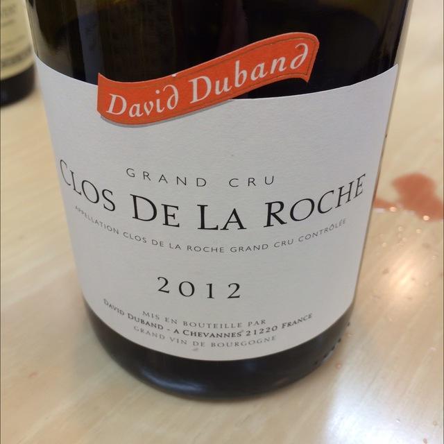Grand Cru Clos de la Roche Pinot Noir 2012
