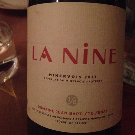 Jean-Baptiste Senat Minervois La Nine Red Blend 2012
