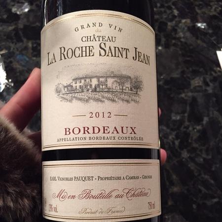 Château La Roche Saint Jean Red Bordeaux Blend 2015