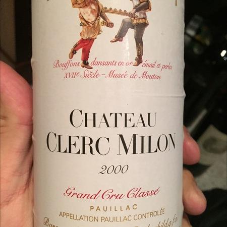 Château Clerc Milon Pauillac Red Bordeaux Blend 2000