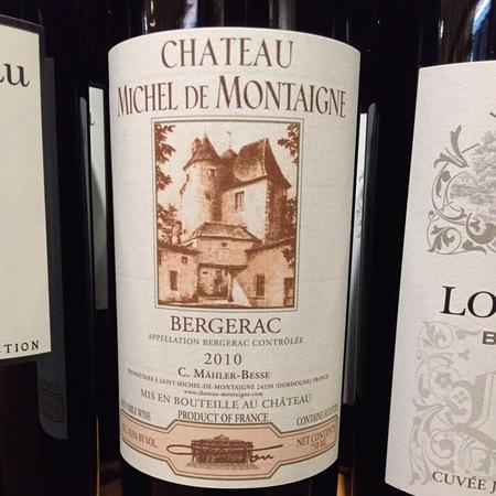 Château Michel de Montaigne (C. Mähler-Besse) Bergerac Red Bordeaux Blend 2015