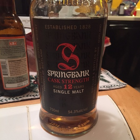 Springbank Distillery 12 Years Cask Strength Single Malt Whisky NV