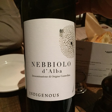 Indigenous Selections Nebbiolo d'Alba 2012