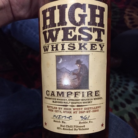 High West Distillery Campfire Whiskey NV