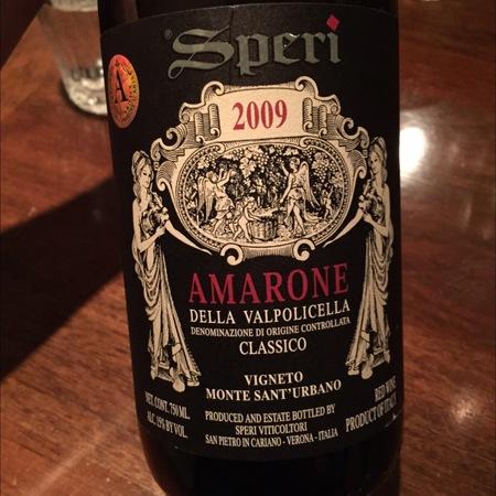 Speri Monte Sant'Urbano Amarone della Valpolicella Classico Corvina Blend 2012