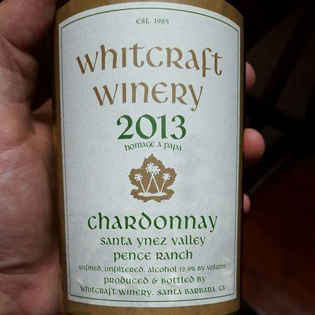 Whitcraft Winery Pence Ranch Chardonnay 2014