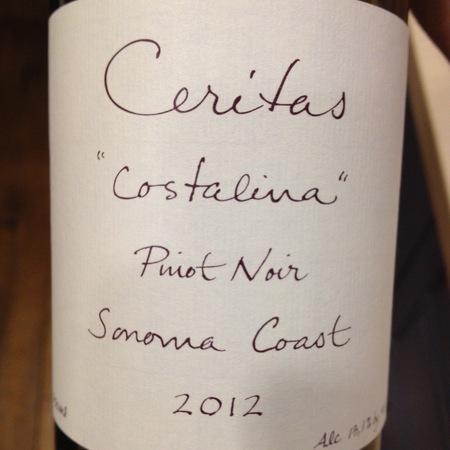 Ceritas Costalina Sonoma Coast Pinot Noir 2015