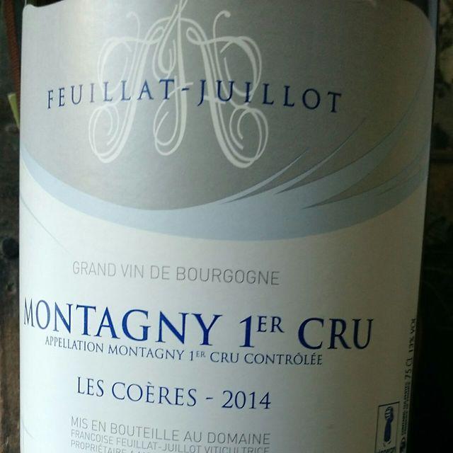 Les Coères Montagny 1er Cru Chardonnay 2014