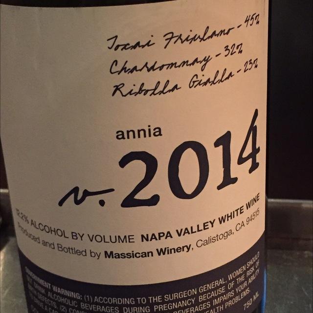 Annia Napa Valley Tocai Friulano Blend 2014