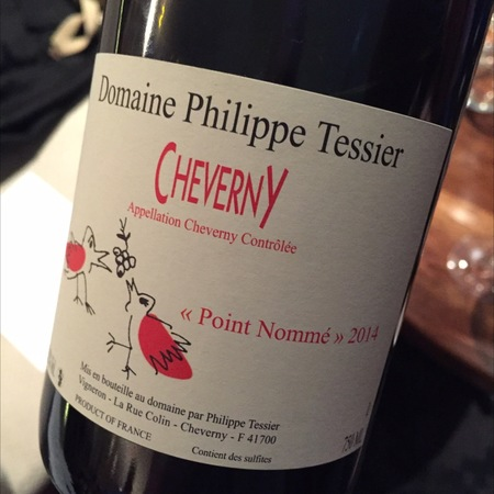 Domaine Philippe Tessier Cheverny Point Nommé Red Blend 2015