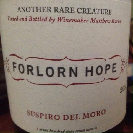 Forlorn Hope Suspiro Del Moro Silvaspoons Vineyard Alvarelhão 2014