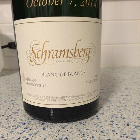 Schramsberg Vineyards Brut Blanc de Blancs Chardonnay 2014