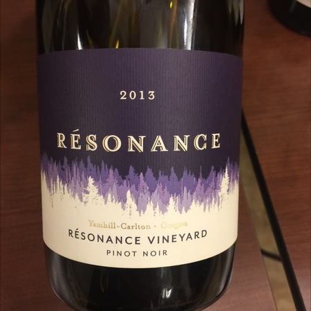 Résonance Vineyard Résonance Yamhill-Carlton Pinot Noir 2013