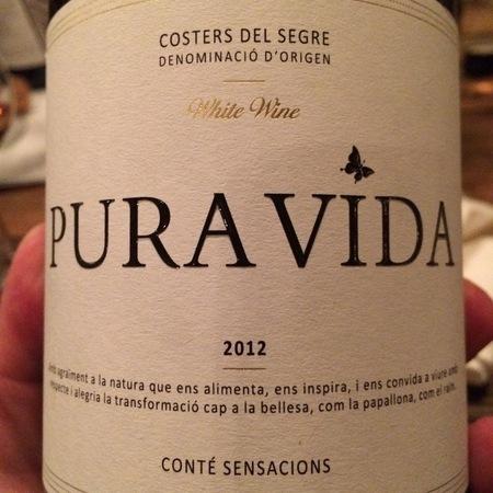 Pura Vida Conté Sensacions Costers Del Segre White Wine 2014